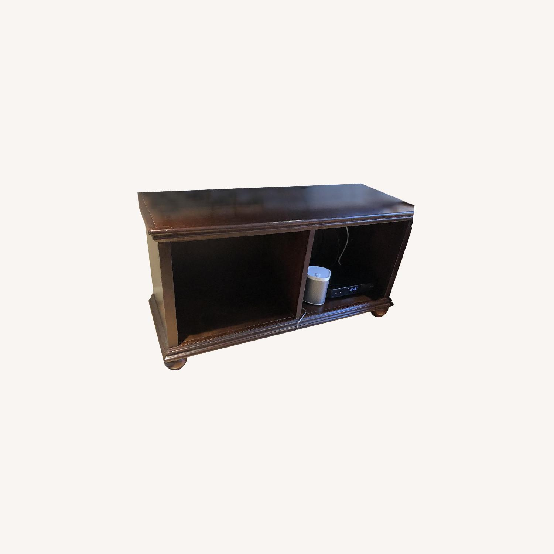Jordan's Dark Brown Wooden Media Console - image-0