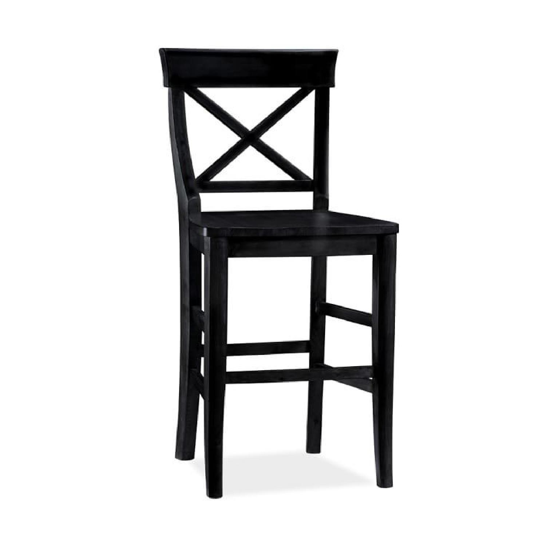 Bar Stools And High Table, Pottery Barn Tall Black Dining Chairs Bar Stools Aptdeco