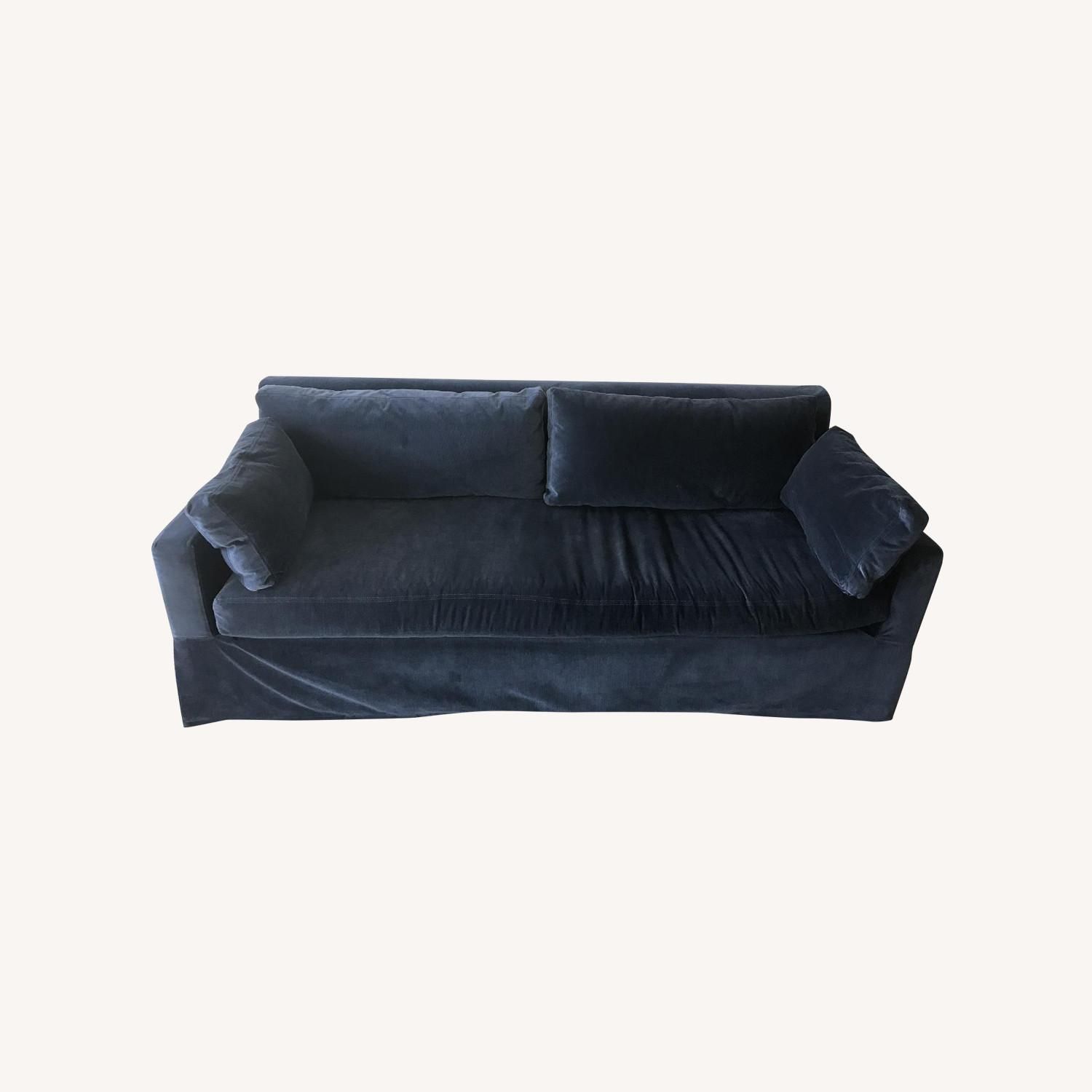 Restoration Hardware Belgain Track Arm Slip Covered Sofa - image-0