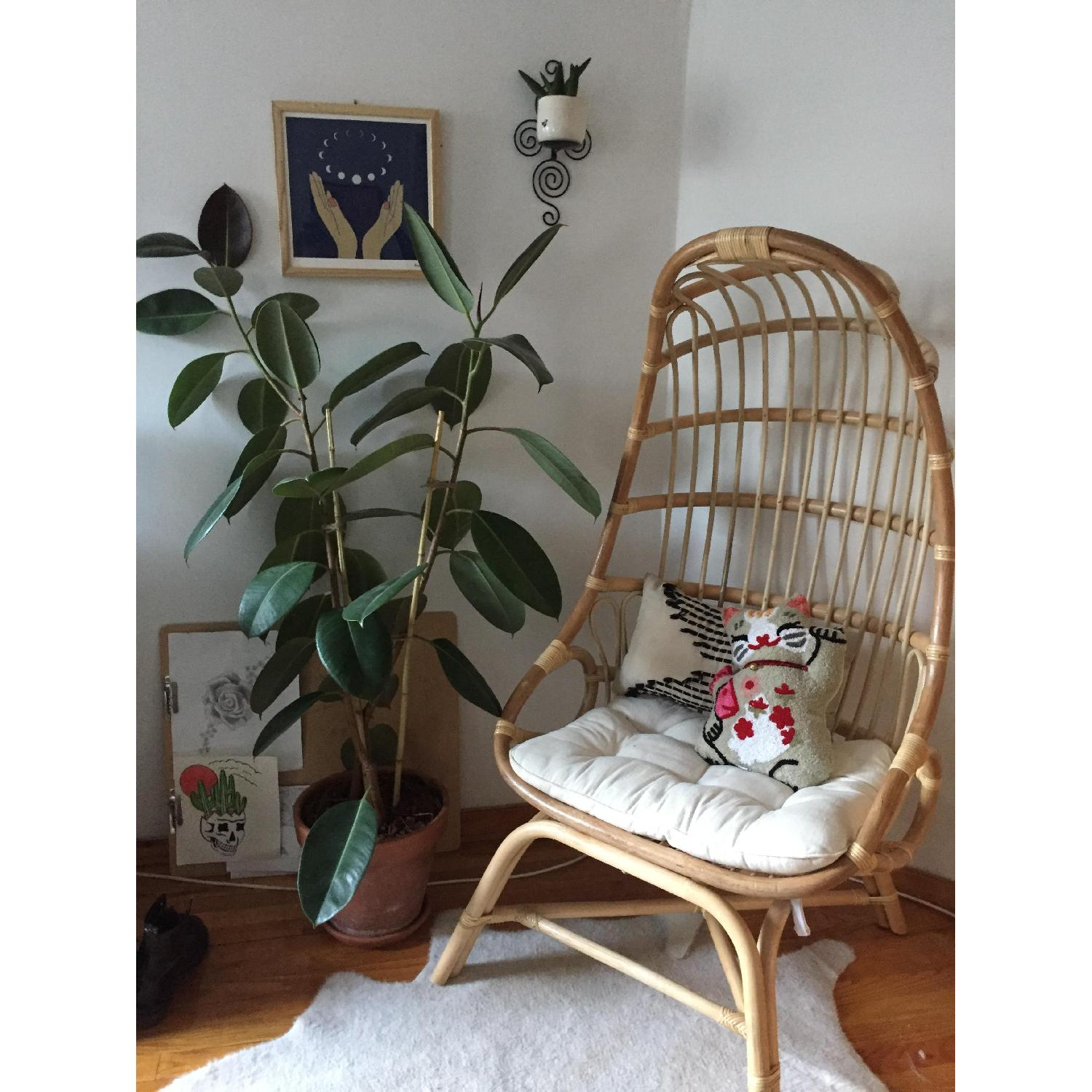 World Market Cocoon Chair - image-1