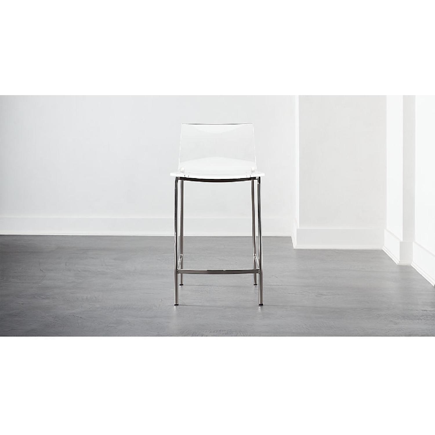 CB2 Clear Barstools in Nickel Finish - image-1