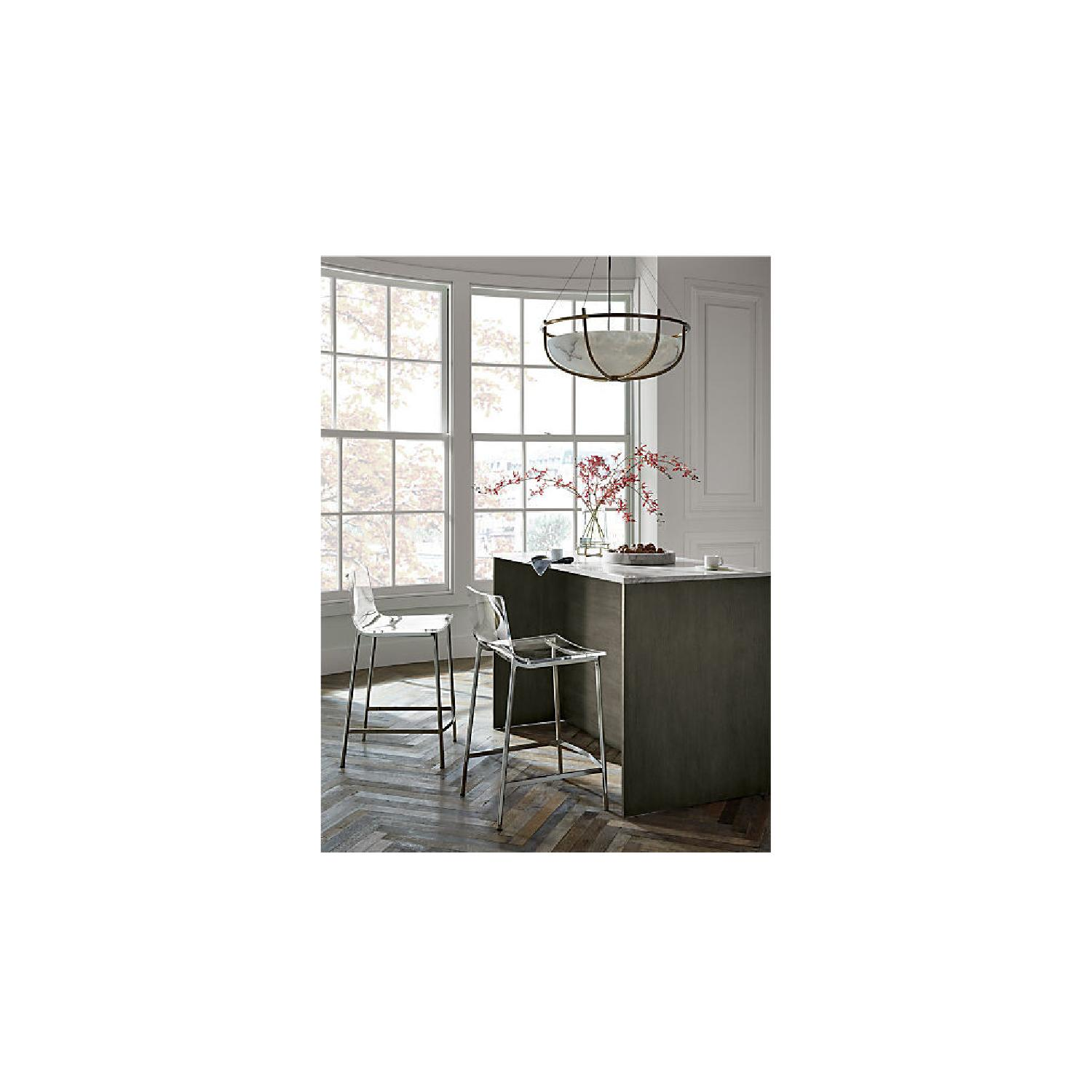 CB2 Clear Barstools in Nickel Finish - image-2