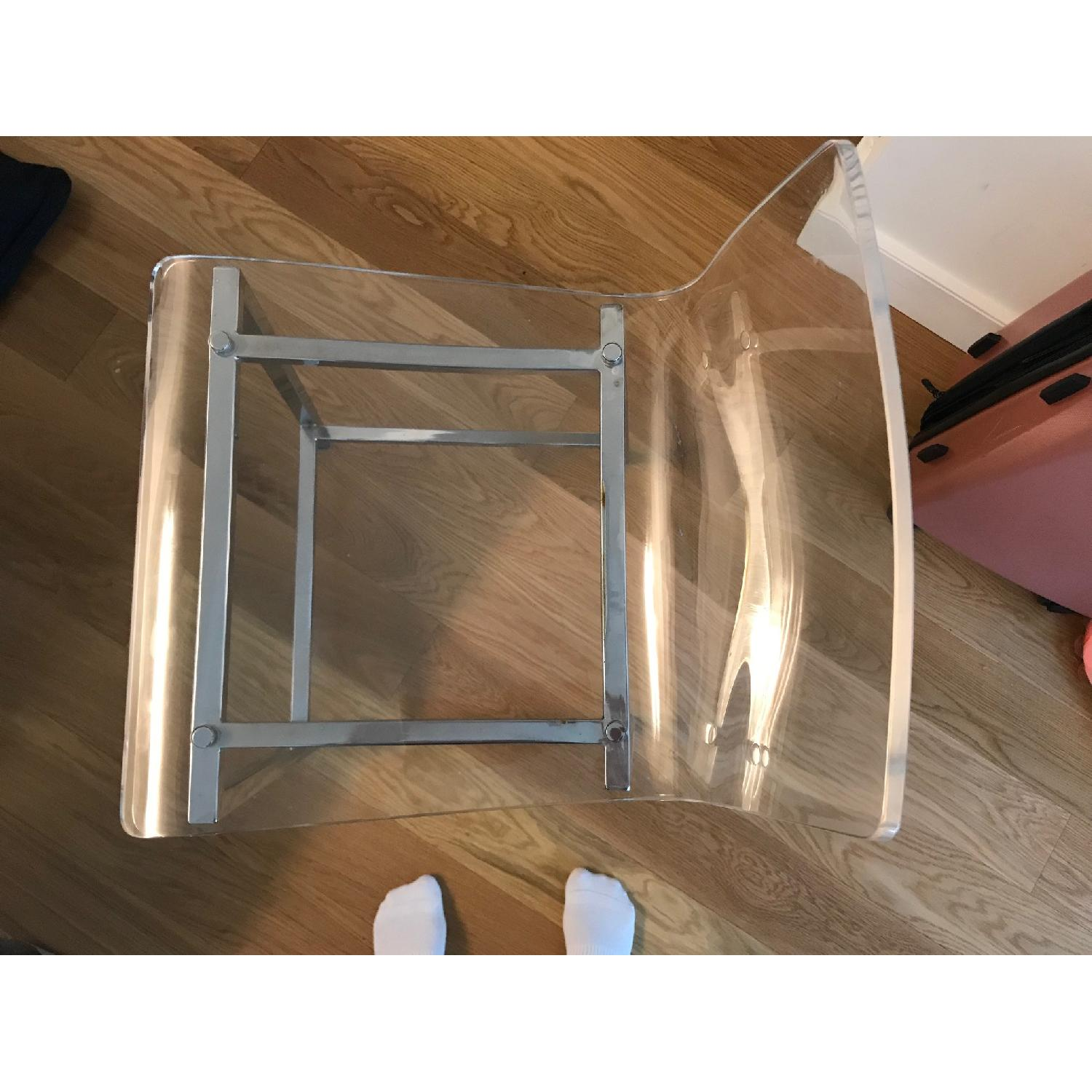 CB2 Clear Barstools in Nickel Finish - image-5