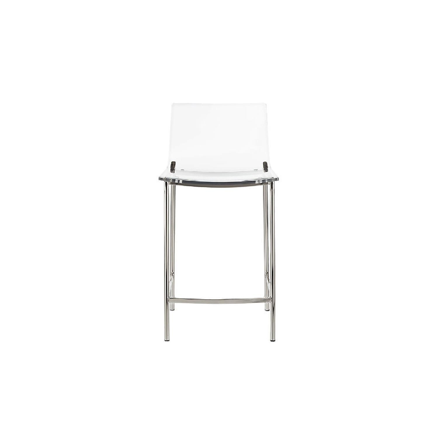 CB2 Clear Barstools in Nickel Finish - image-0