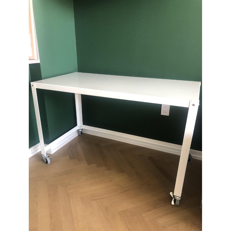 CB2 Metal Rolling Cart Desk - image-3