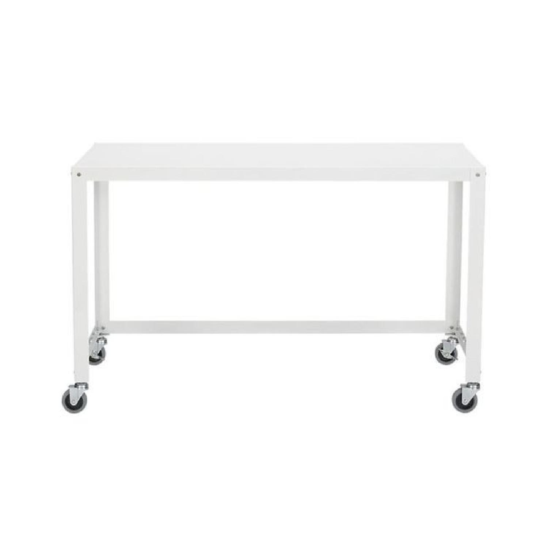 CB2 Metal Rolling Cart Desk - image-0