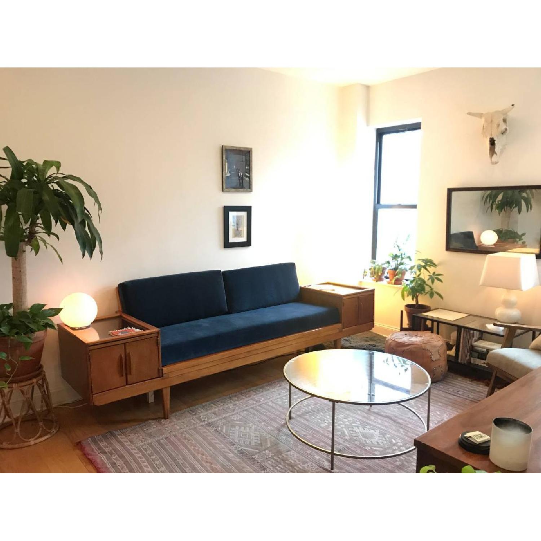 Wooden Platform Sofa w/ Built-On Vitrines - image-2