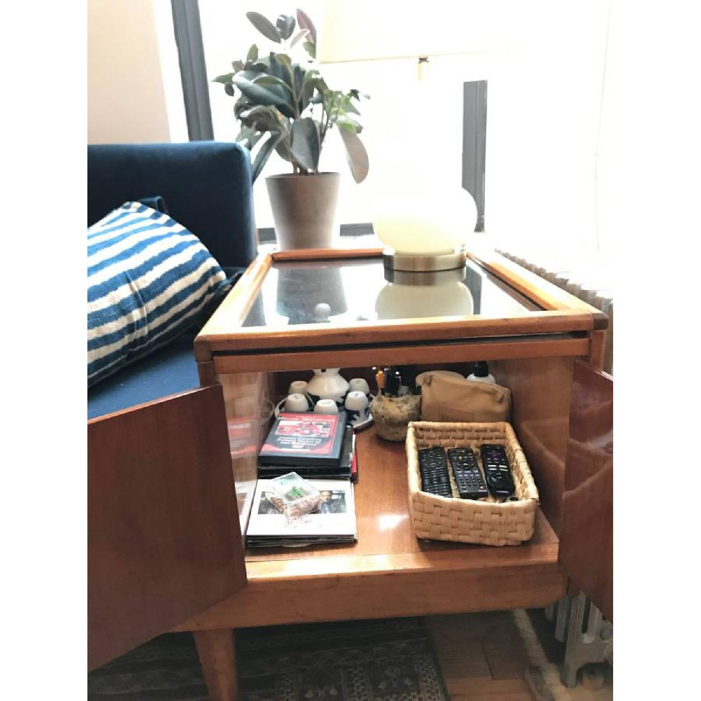 Wooden Platform Sofa w/ Built-On Vitrines - image-3