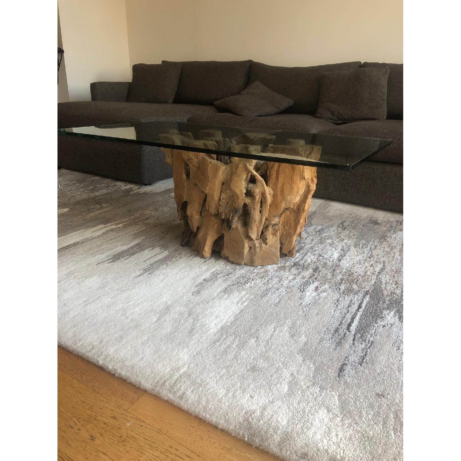 Picture of: Crate Barrel Driftwood Coffee Table Aptdeco