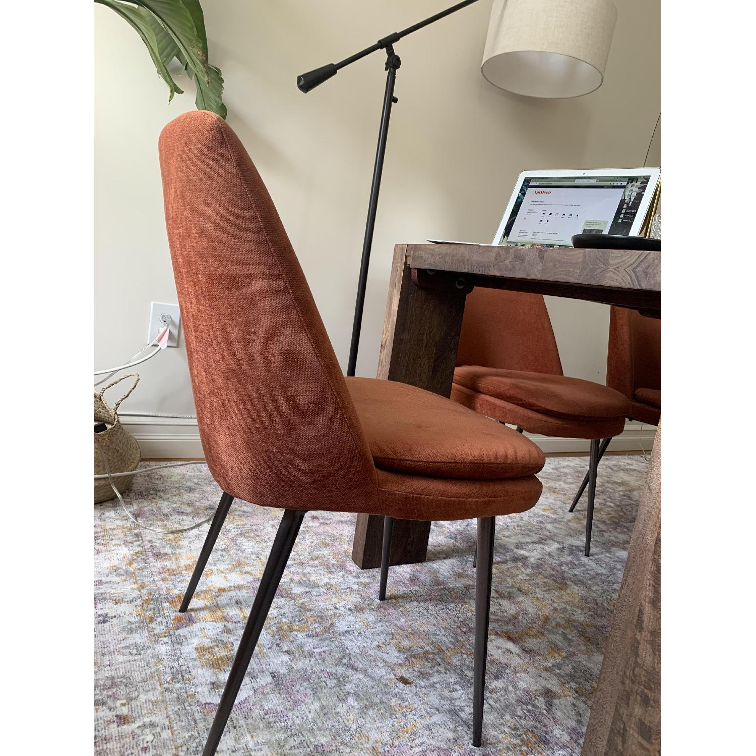 West Elm Distressed Velvet Dining Chairs - image-1