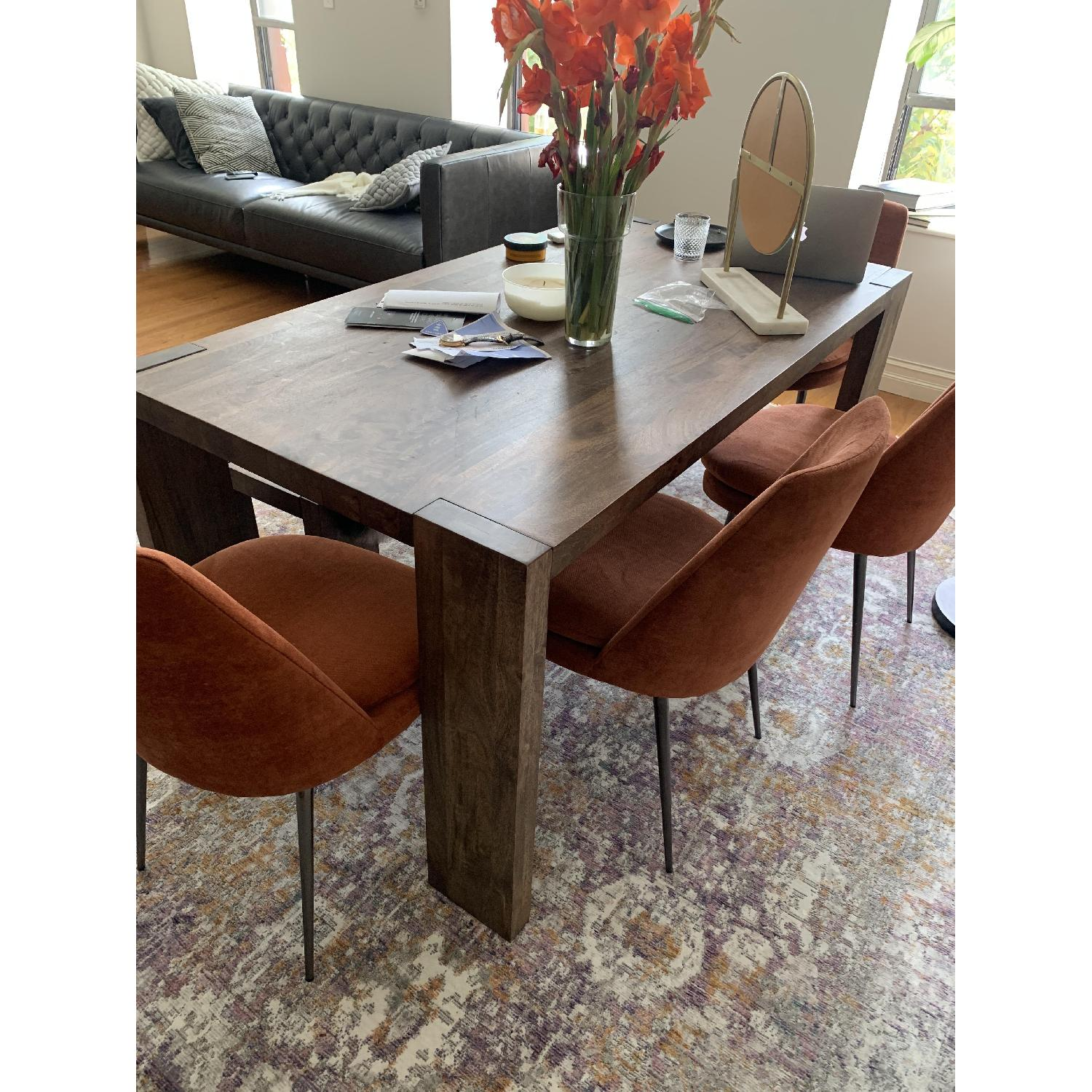 West Elm Distressed Velvet Dining Chairs - image-2
