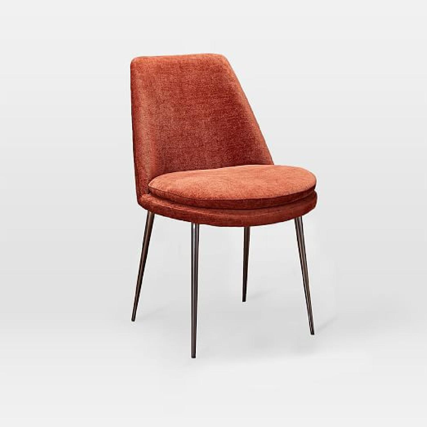 West Elm Distressed Velvet Dining Chairs - image-5