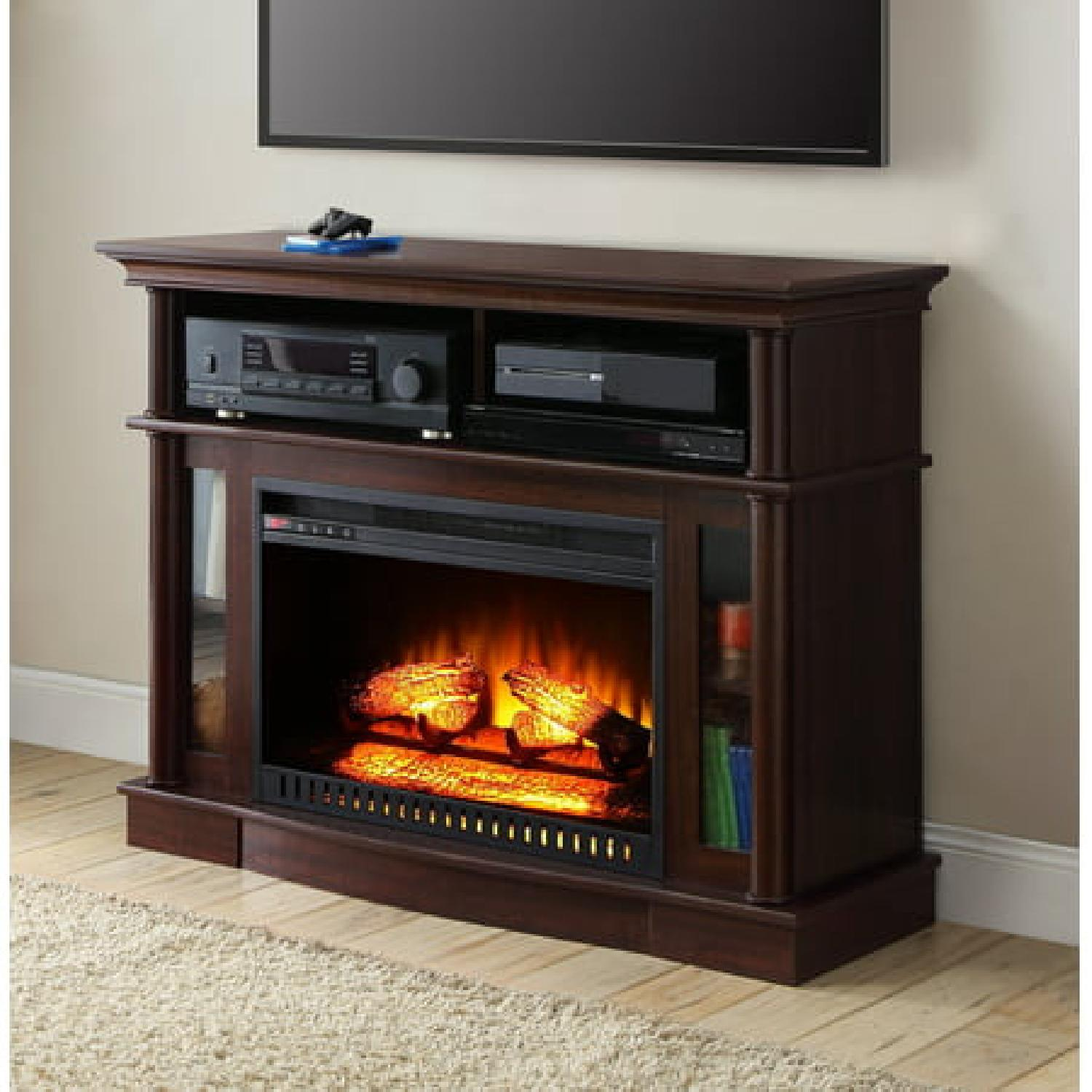 Better Homes & Gardens Media Console w/ Fireplace - image-1