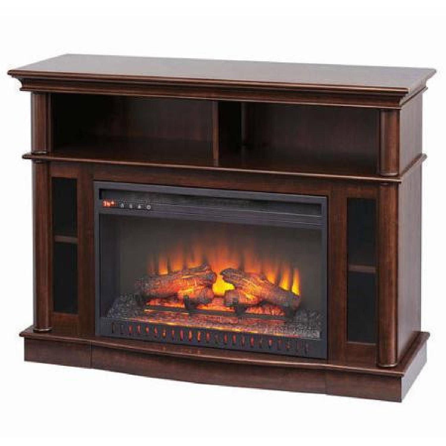 Better Homes & Gardens Media Console w/ Fireplace - image-0