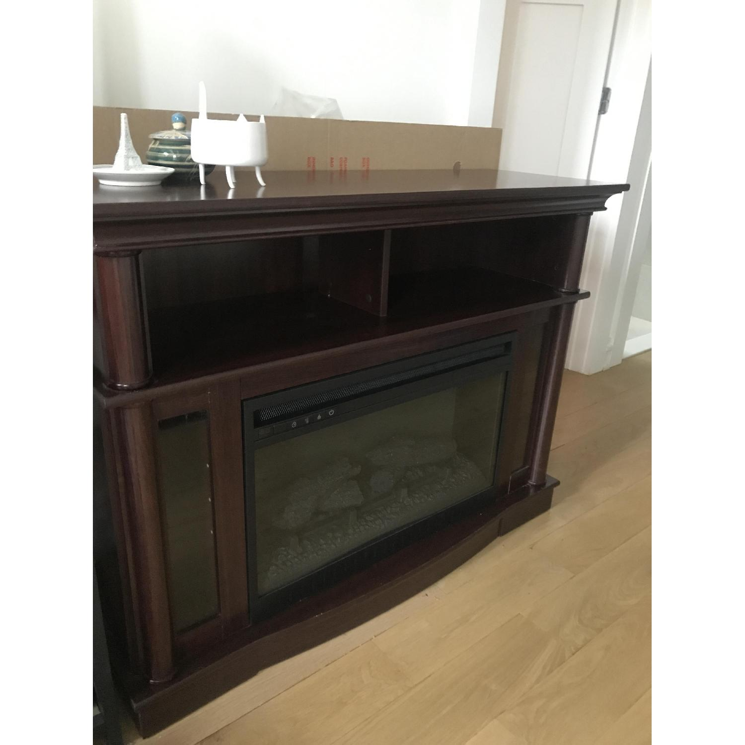 Better Homes & Gardens Media Console w/ Fireplace - image-4