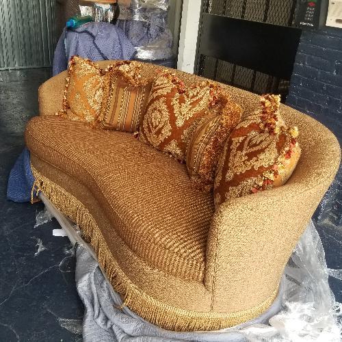 Used Drexel Heritage Custom Bench Cushion Sofa for sale on AptDeco