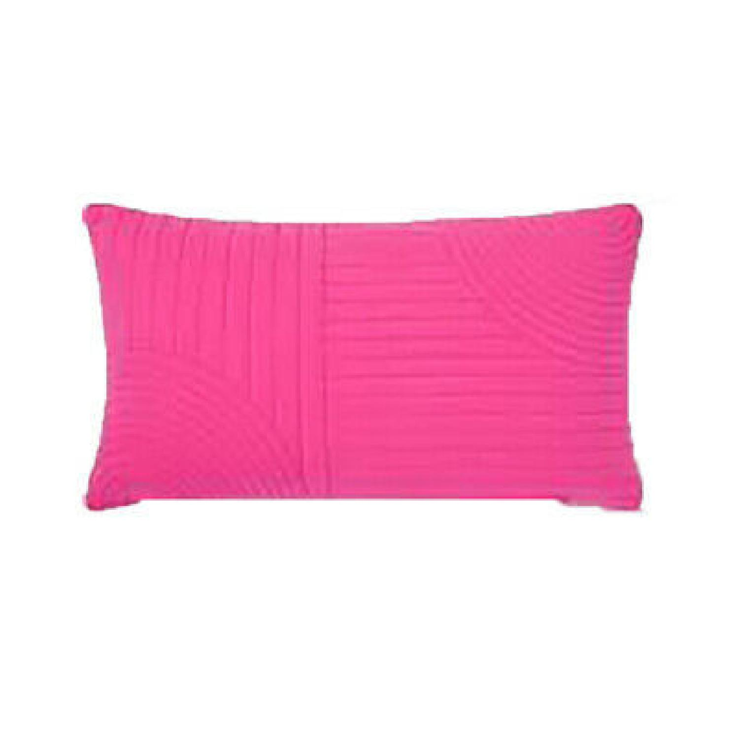 Hot Pink Quilted Lumbar Pillow - image-2