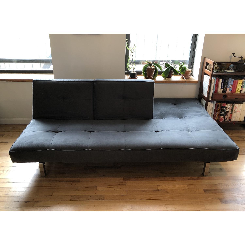 Room & Board Smoke-Blue Convertible Sleeper Sofa - image-3