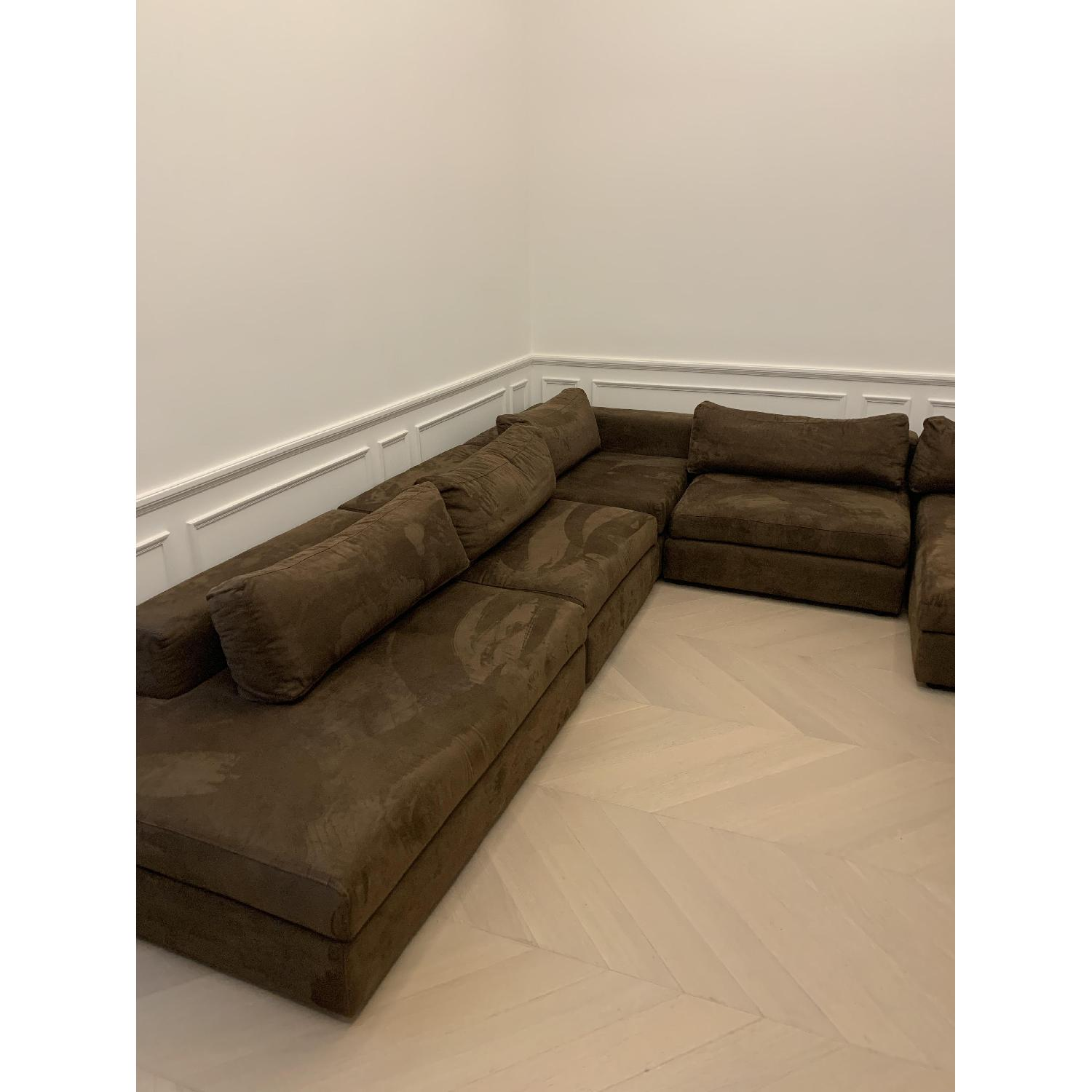 Taylor Made Brown Suede 6-Piece Sectional Sofa - image-3
