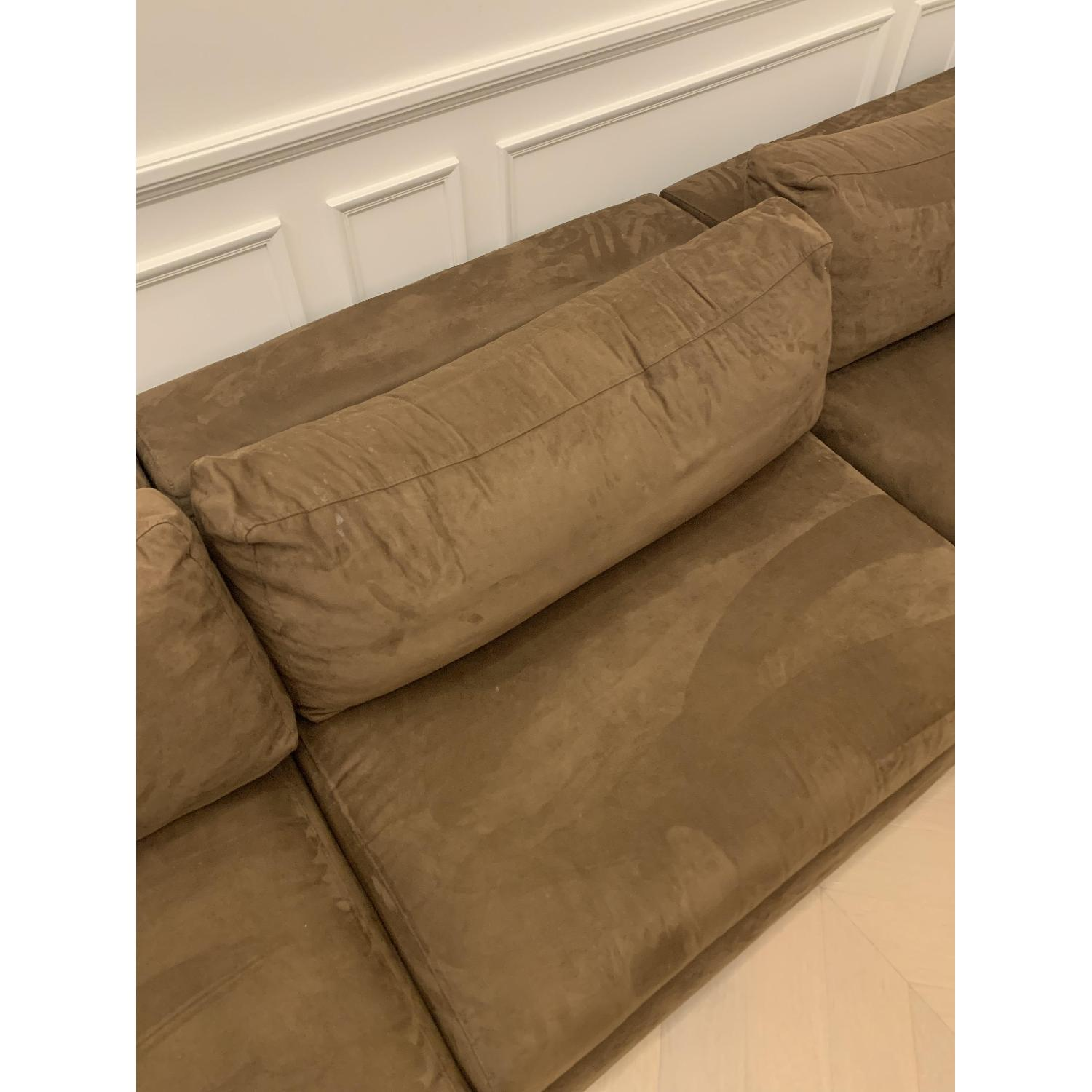 Taylor Made Brown Suede 6-Piece Sectional Sofa - image-4