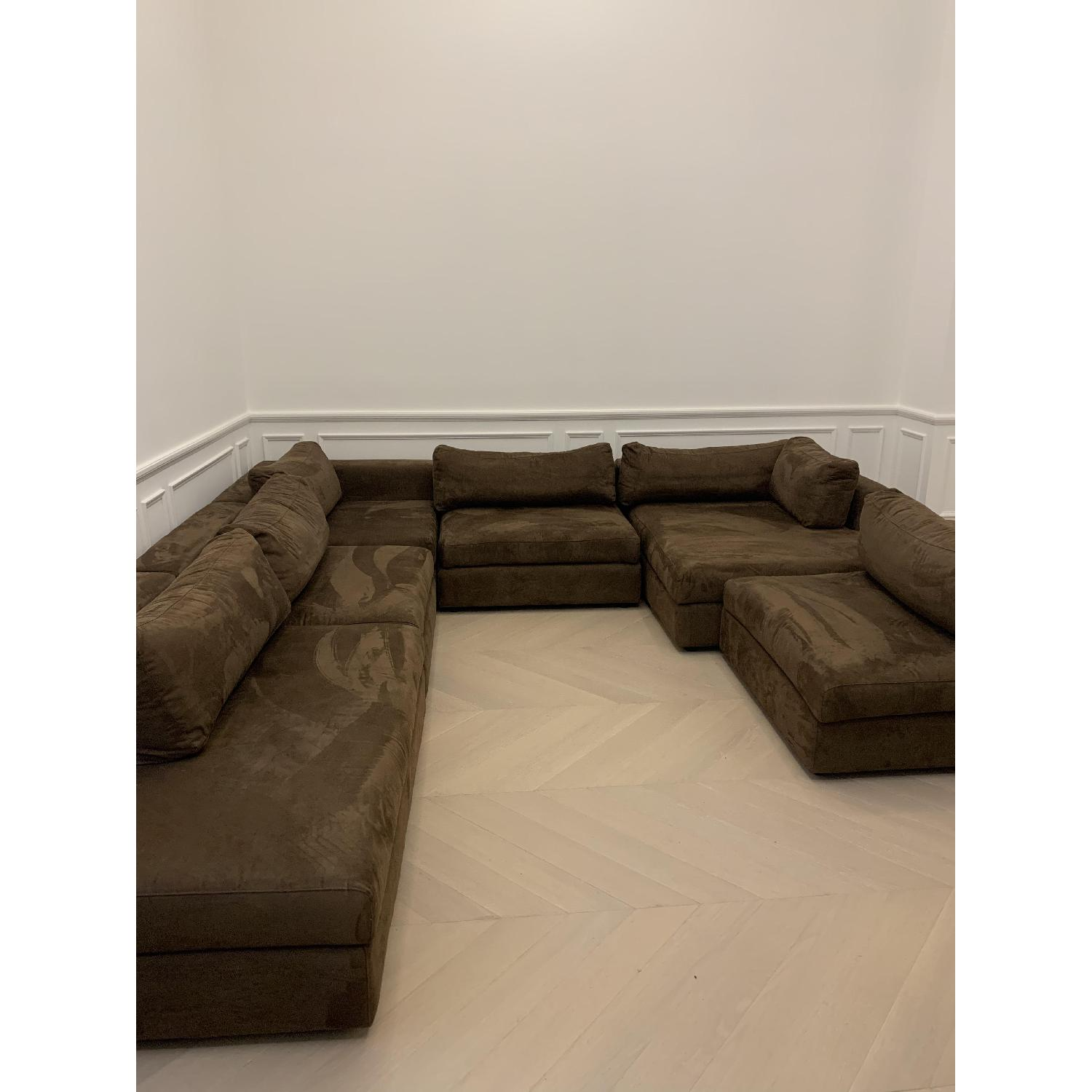 Taylor Made Brown Suede 6-Piece Sectional Sofa - image-7