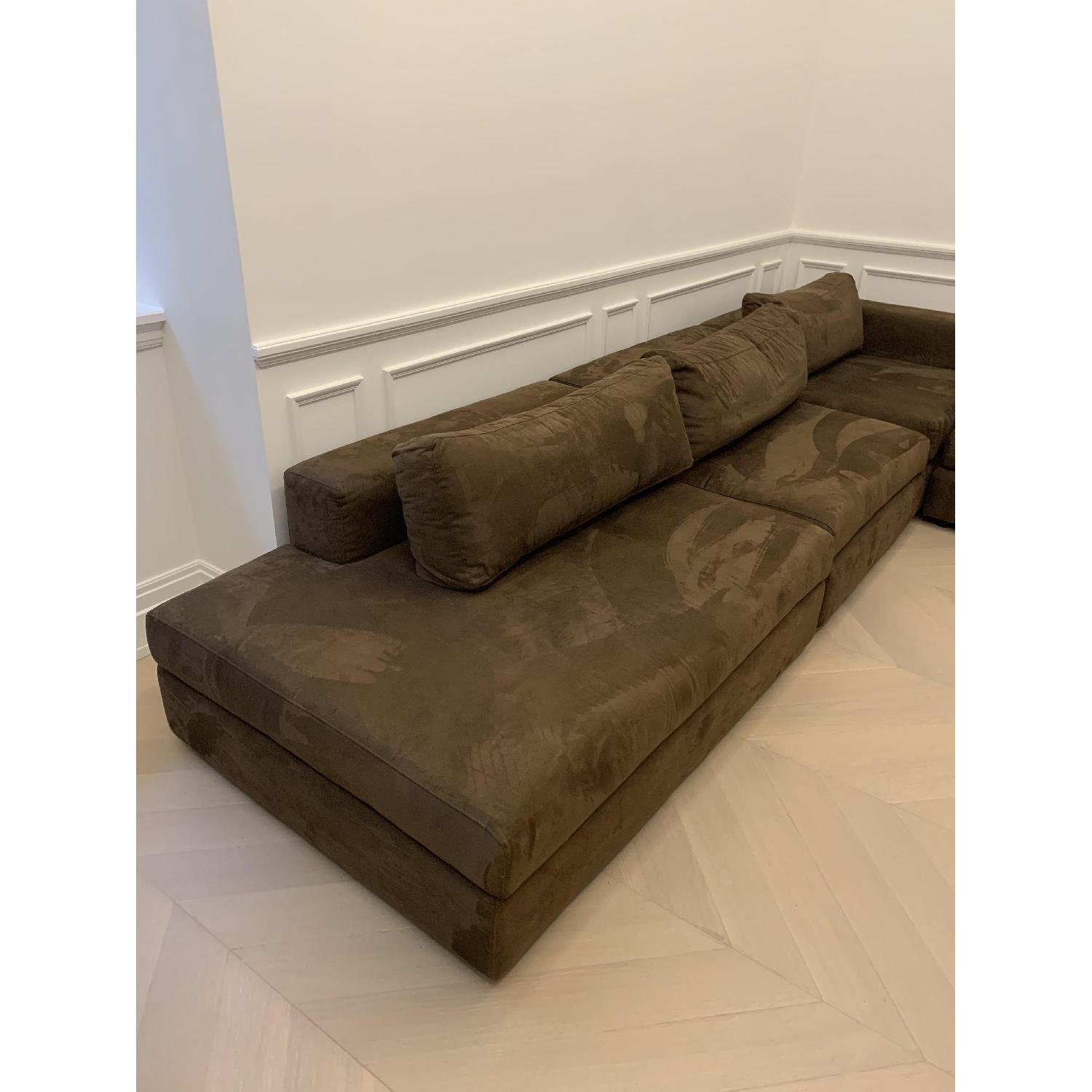 Taylor Made Brown Suede 6-Piece Sectional Sofa - image-2
