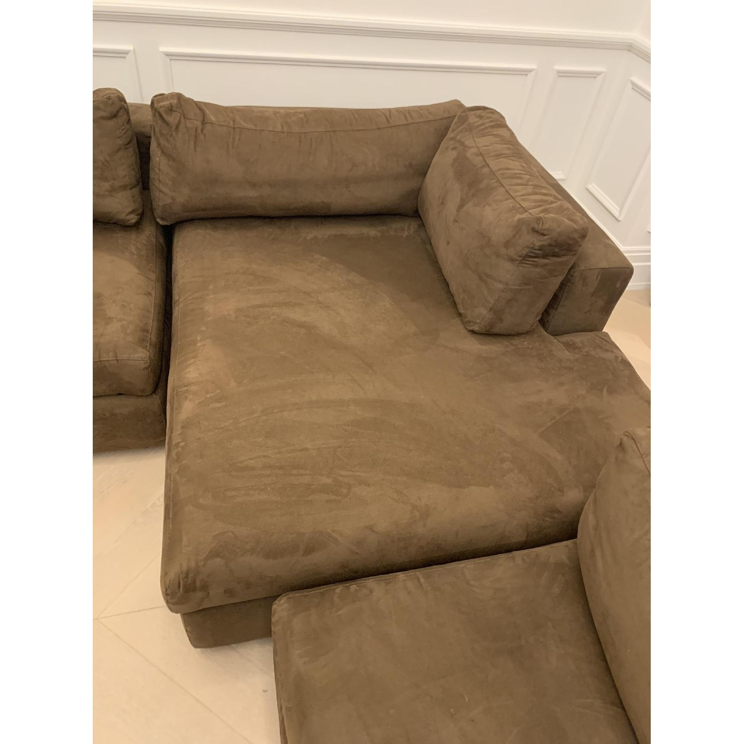Taylor Made Brown Suede 6-Piece Sectional Sofa - image-8