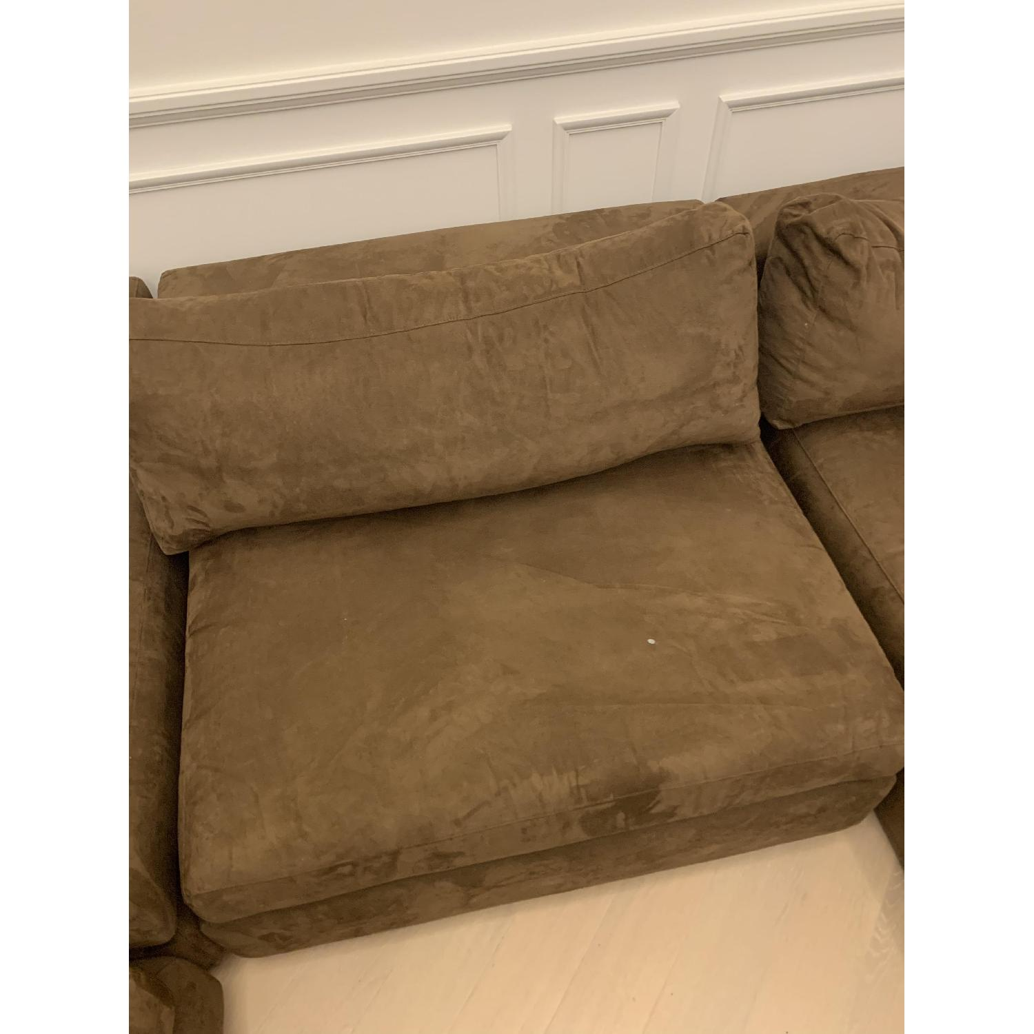 Taylor Made Brown Suede 6-Piece Sectional Sofa - image-10