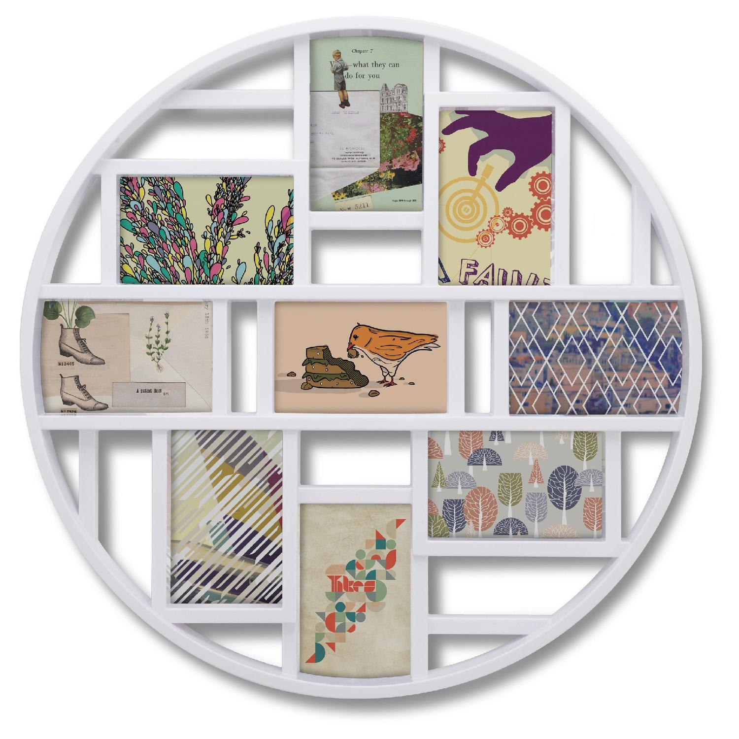 Umbra Luna Round Here Circle Multi Collage Picture Frame - image-0