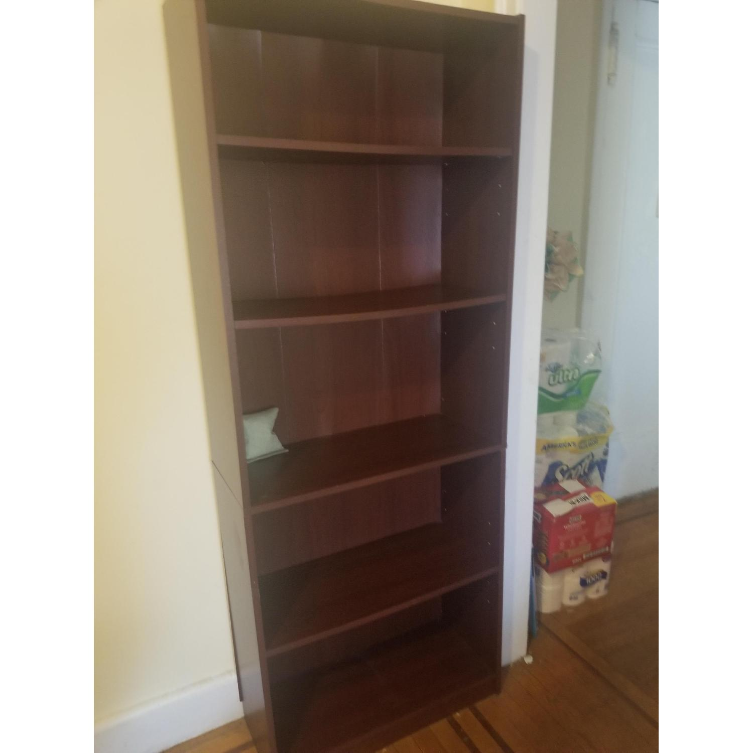 Staples Brown 5 Shelf Bookcase - image-1