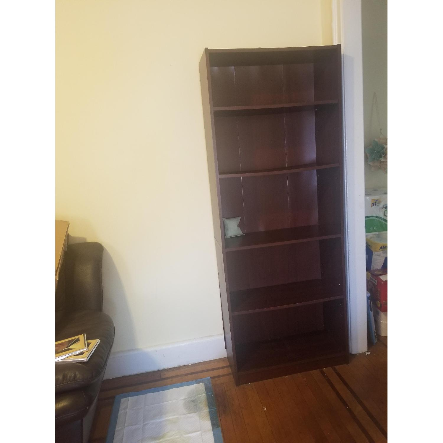 Staples Brown 5 Shelf Bookcase - image-2