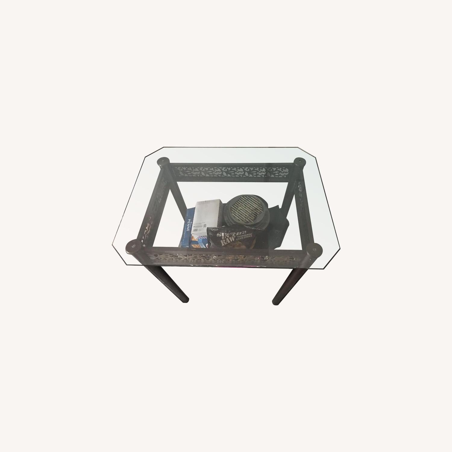 Square Glass Top Dining Table - image-0