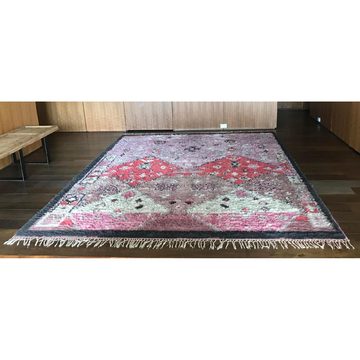 Anthropologie Hand-Knotted Double Diamond Rug - image-1