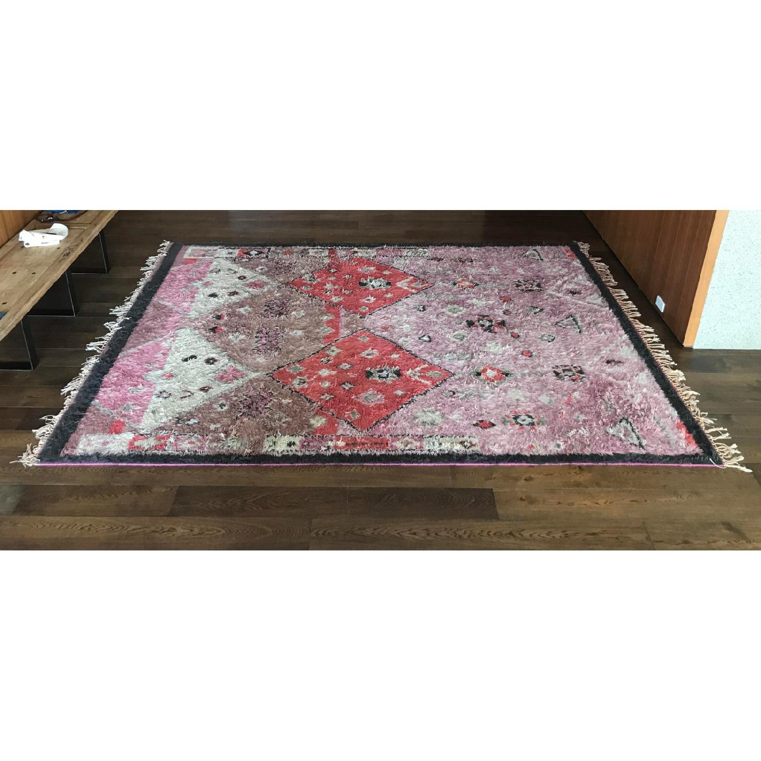 Anthropologie Hand-Knotted Double Diamond Rug - image-2