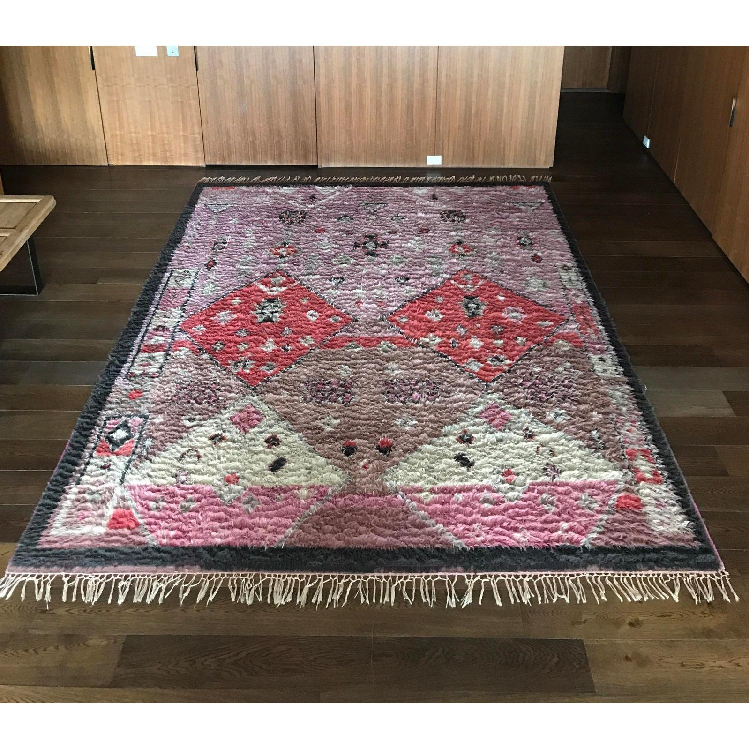 Anthropologie Hand-Knotted Double Diamond Rug - image-3