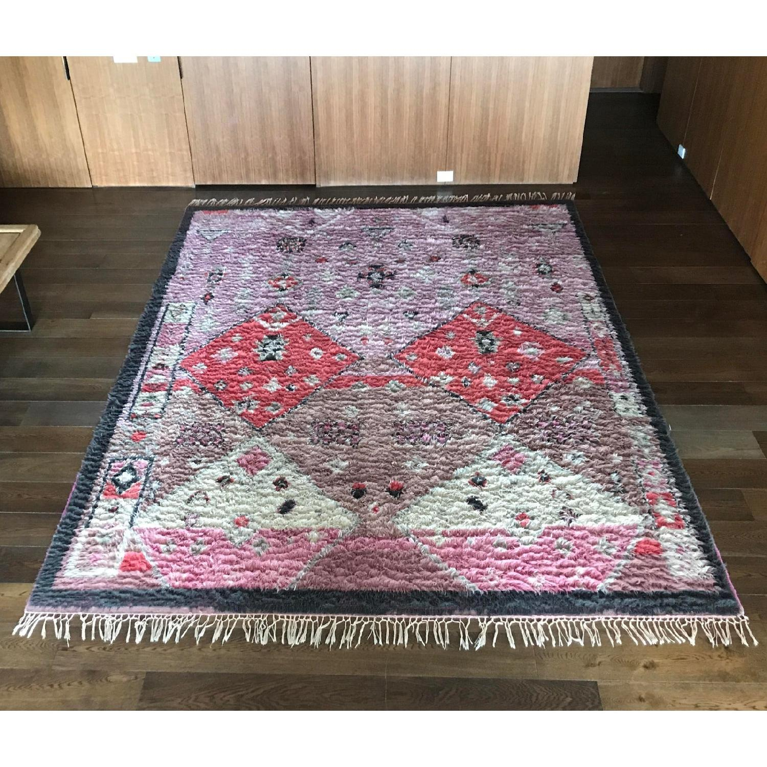 Anthropologie Hand-Knotted Double Diamond Rug - image-4