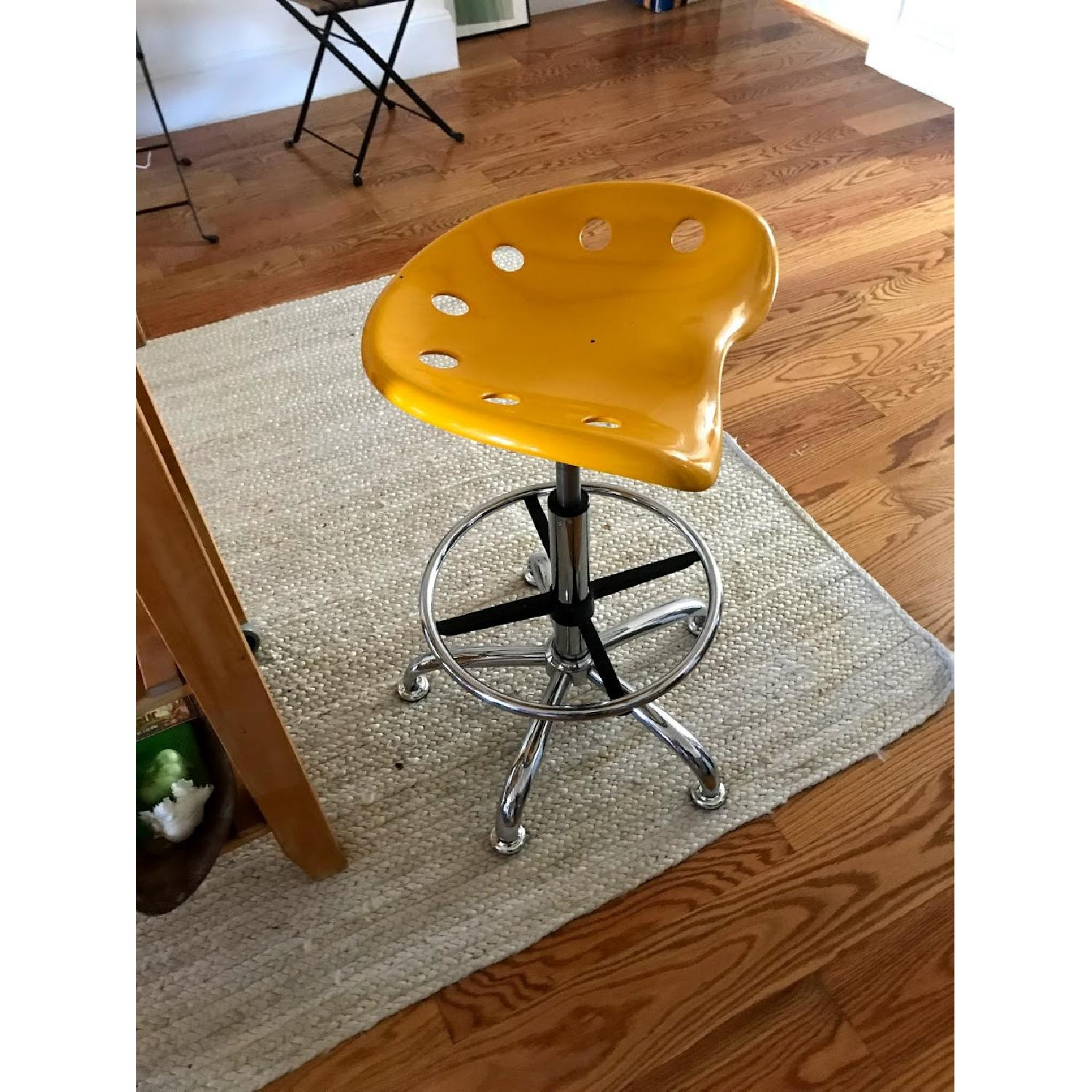 Globe House Height Adjustable Drafting Stool w/ Swivel Seat - image-1