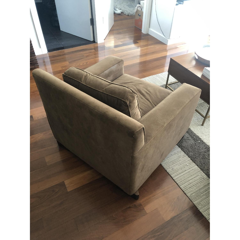 West Elm Light Brown Armchair - image-1