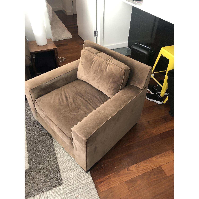 West Elm Light Brown Armchair - image-3