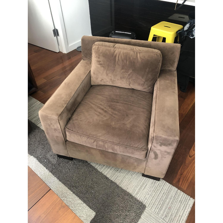 West Elm Light Brown Armchair - image-4