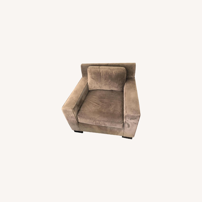 West Elm Light Brown Armchair - image-0