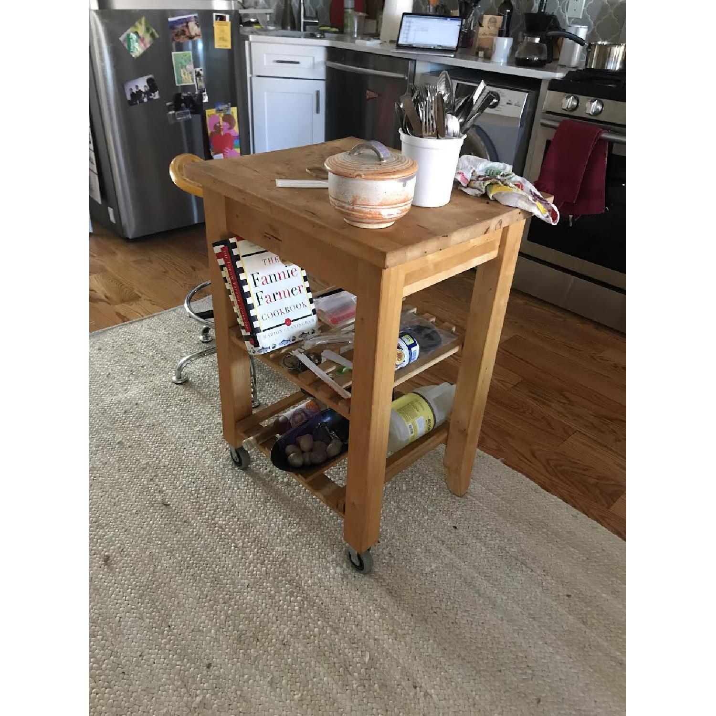 Ikea Bekvam Side Table/Kitchen Cart - image-1