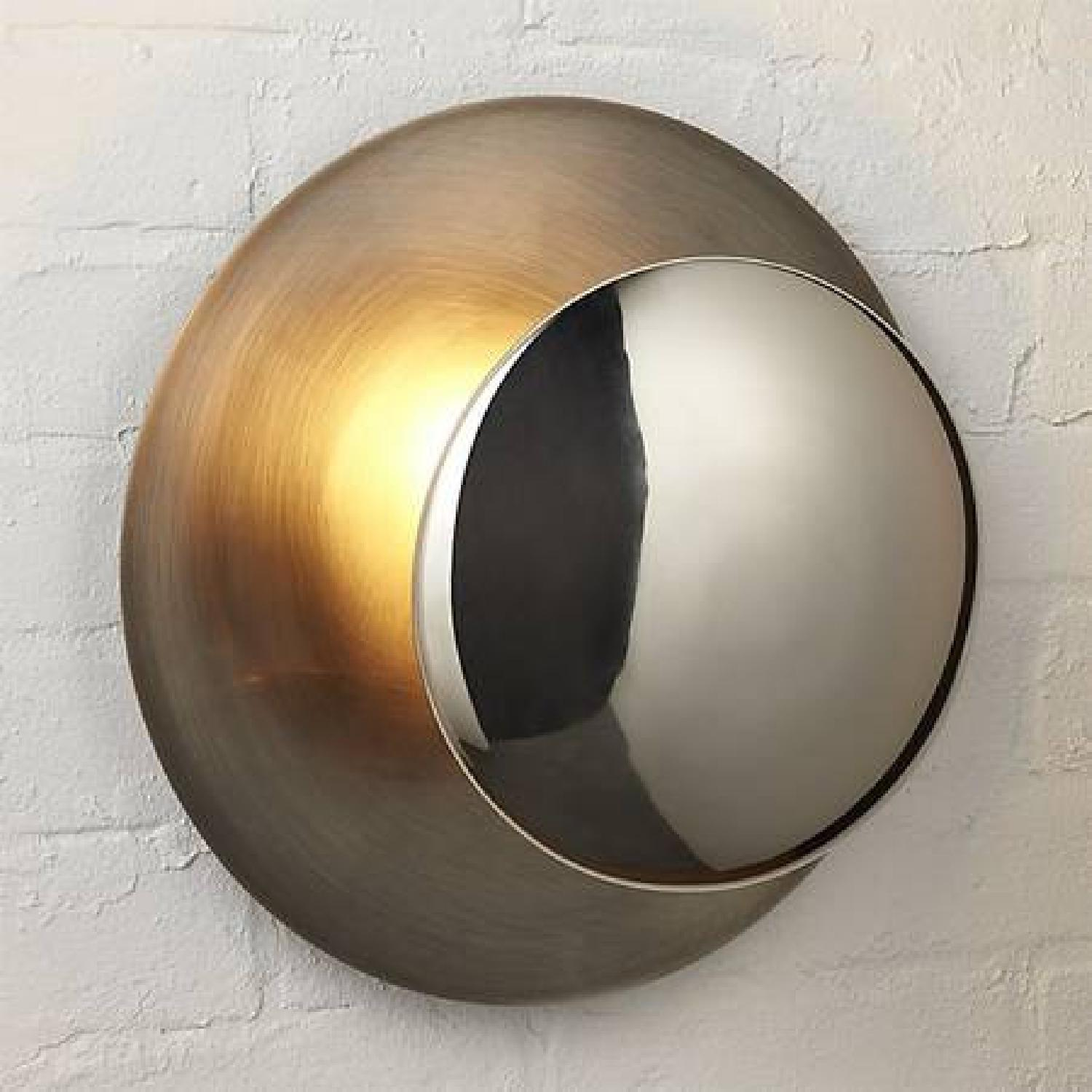 CB2 Disc Wall Sconces in Silver - image-1