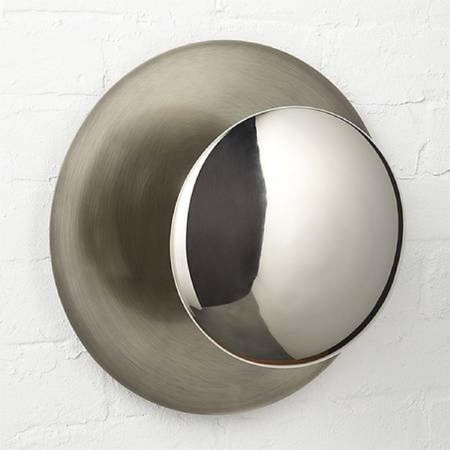CB2 Disc Wall Sconces in Silver - image-3