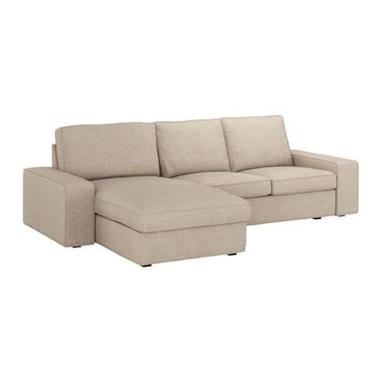 Ikea Kivik 2 Piece Sectional Sofa w/ Chaise - image-0