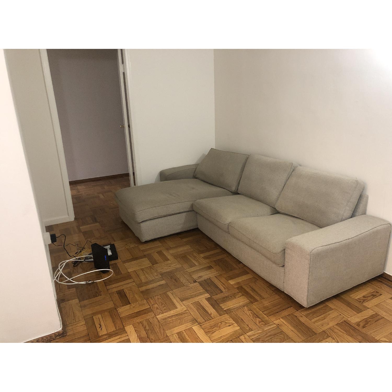 Ikea Kivik 2 Piece Sectional Sofa w/ Chaise - image-1