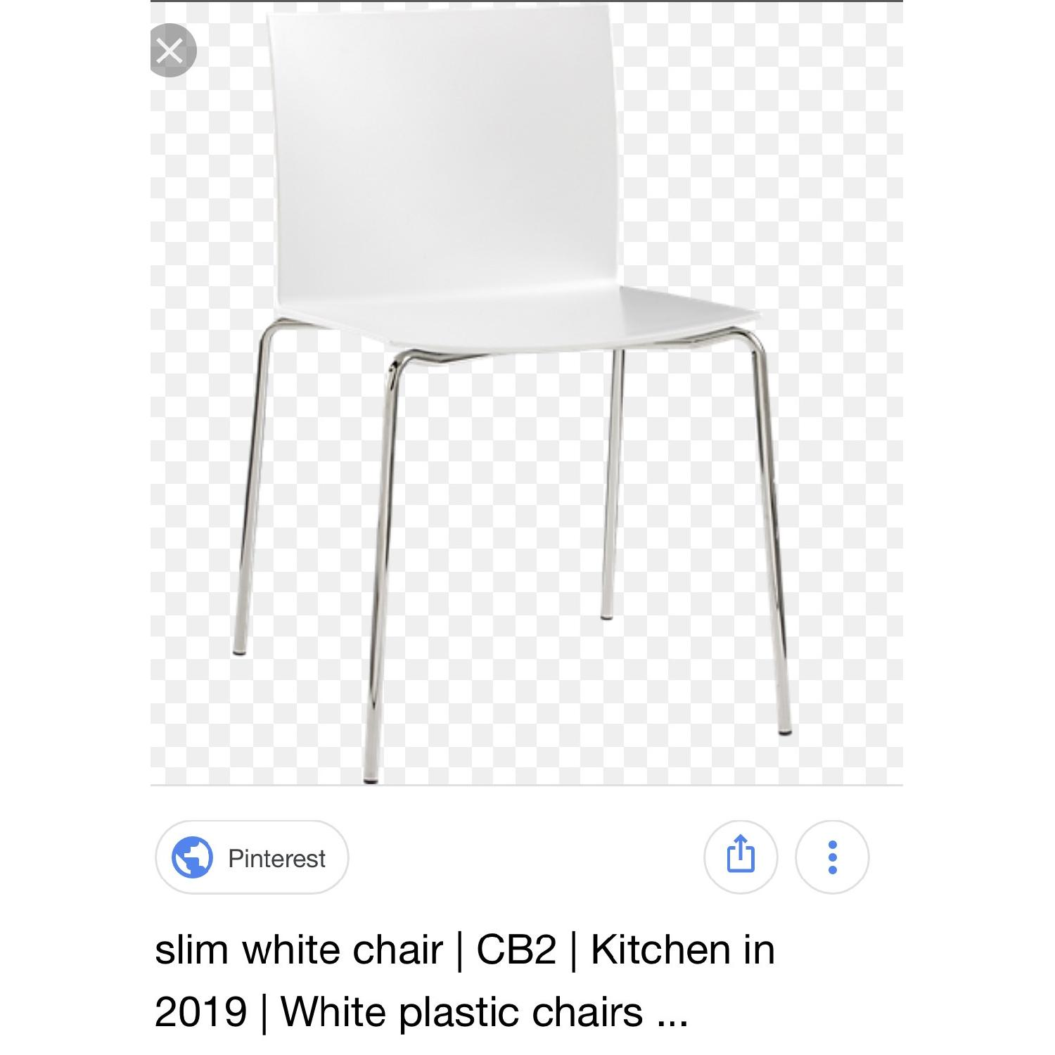 CB2 Stackable Slim Dining Chairs - image-1