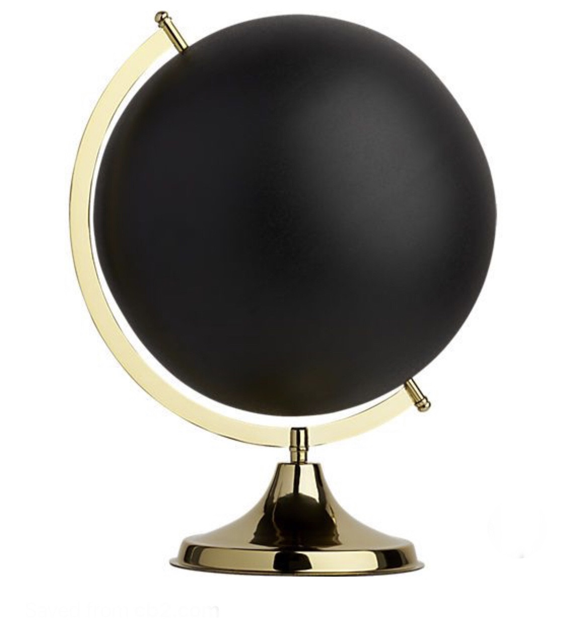 CB2 Black Globe