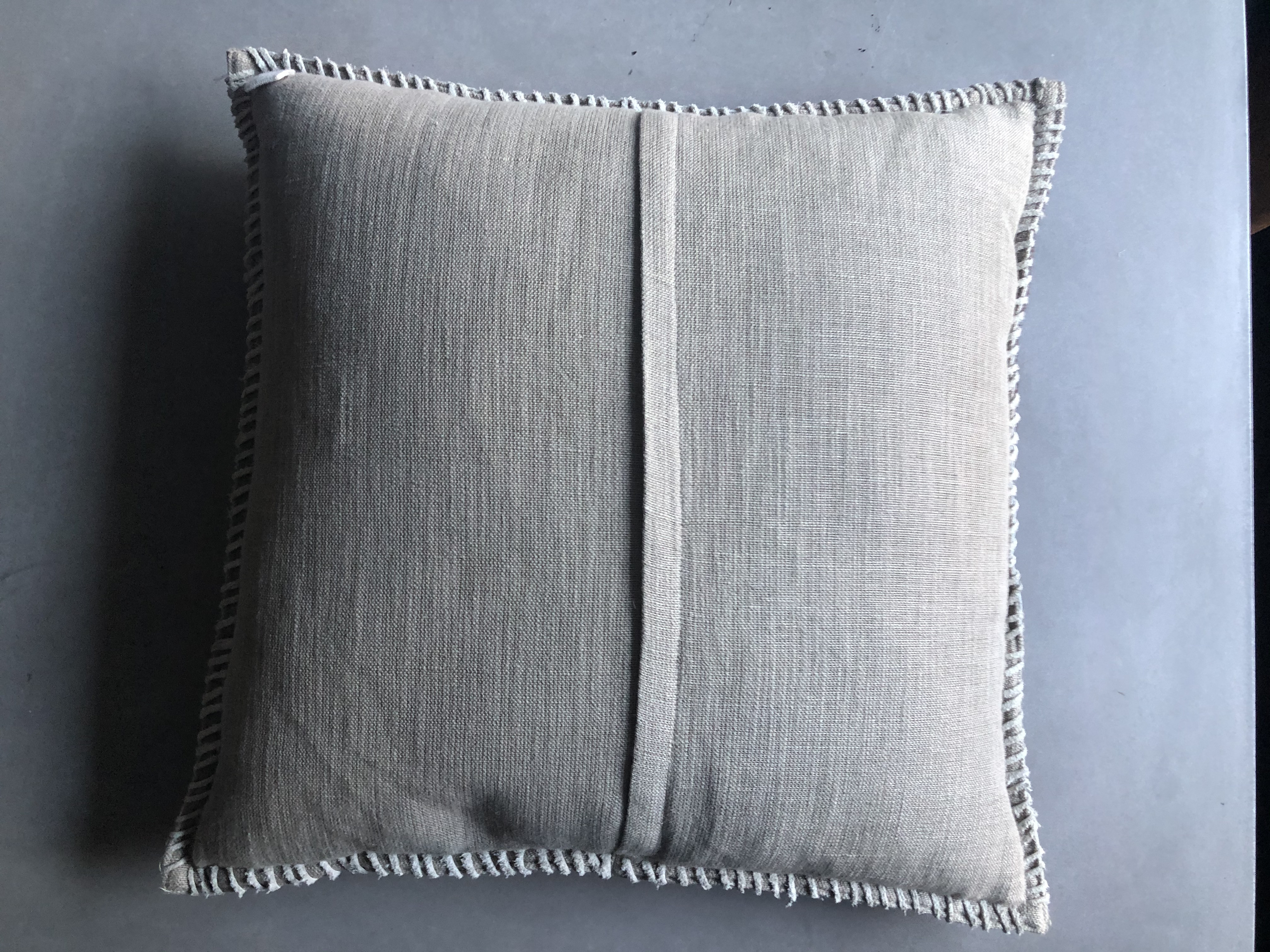 Arhaus Whipstitch Hide Square Pillow in Tan