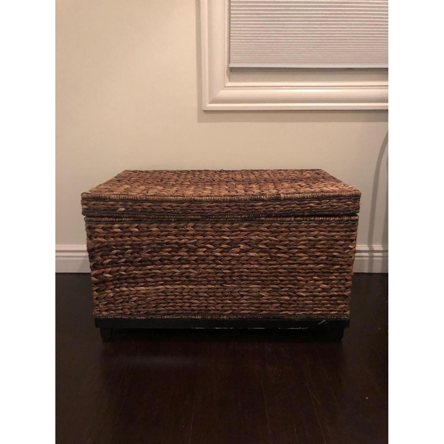 Target Rectangle Wicker Storage Ottoman Bench - image-1